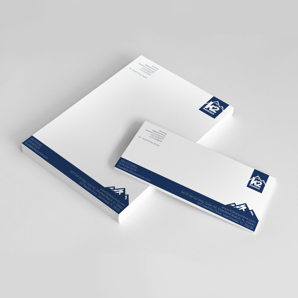 K2 Summit  Envelope & Letterhead, Design & Production