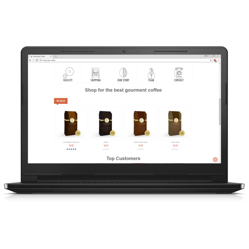 SanGiorgio Coffee  Website Design & eCommerce (shop)