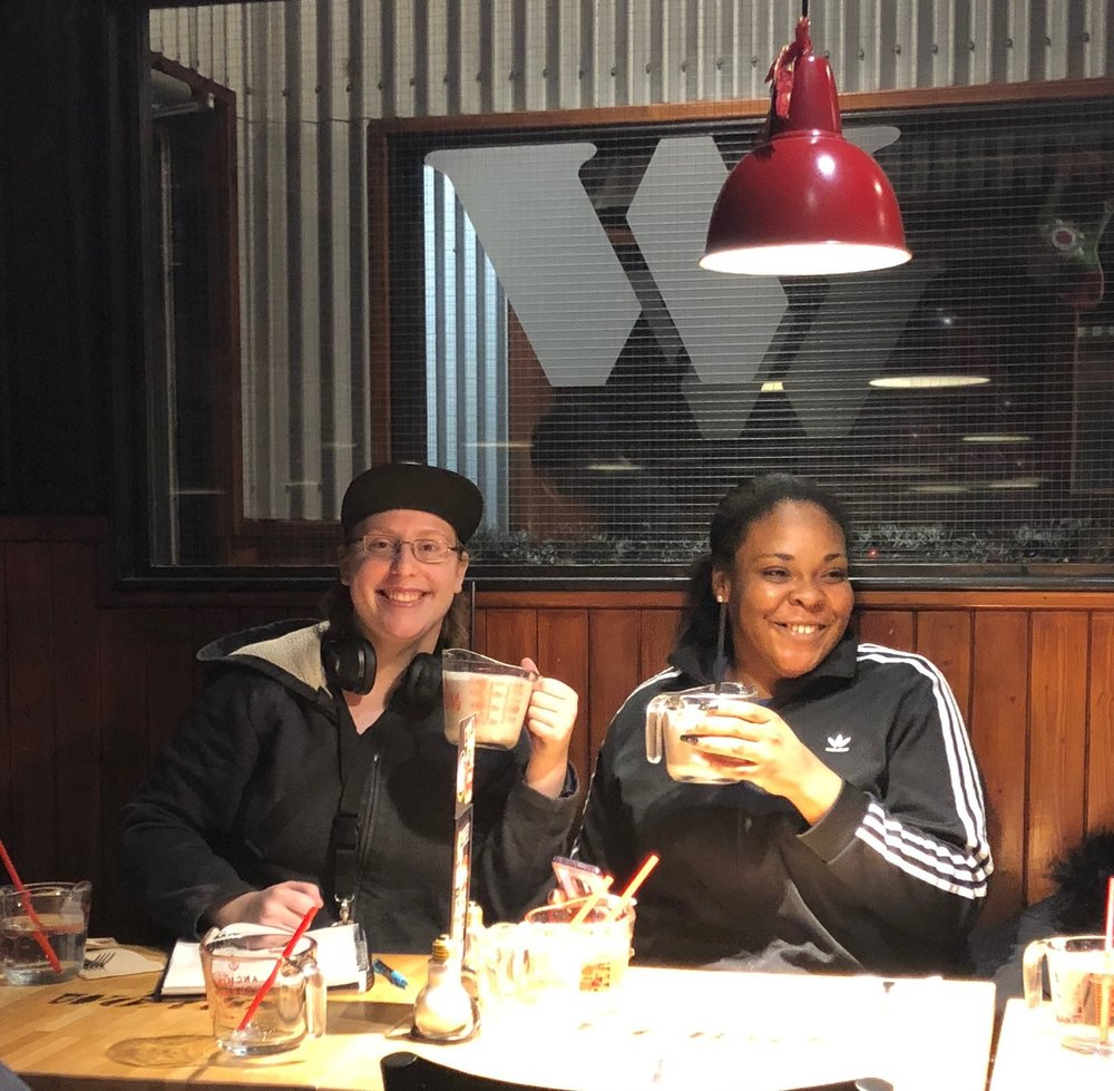 Youth from the Second Stage Housing program enjoyed their Holiday Dinner at the Works.