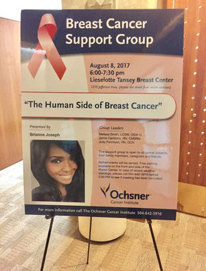 A Sought After Speaker - Brianne has spoken at Ochsner Hospital, Mary Bird Perkins Cancer Center, Xavier University, LSU, Louis Martinet Society, Crewe of Athena Women's Empowerment Session, HYPE Academy and others. Brianne was the keynote speaker at the 2017 National Oncology Conference, the keynote speaker at the 2018 Carolina Medical Managers Educational Conference, and other conferences as well.