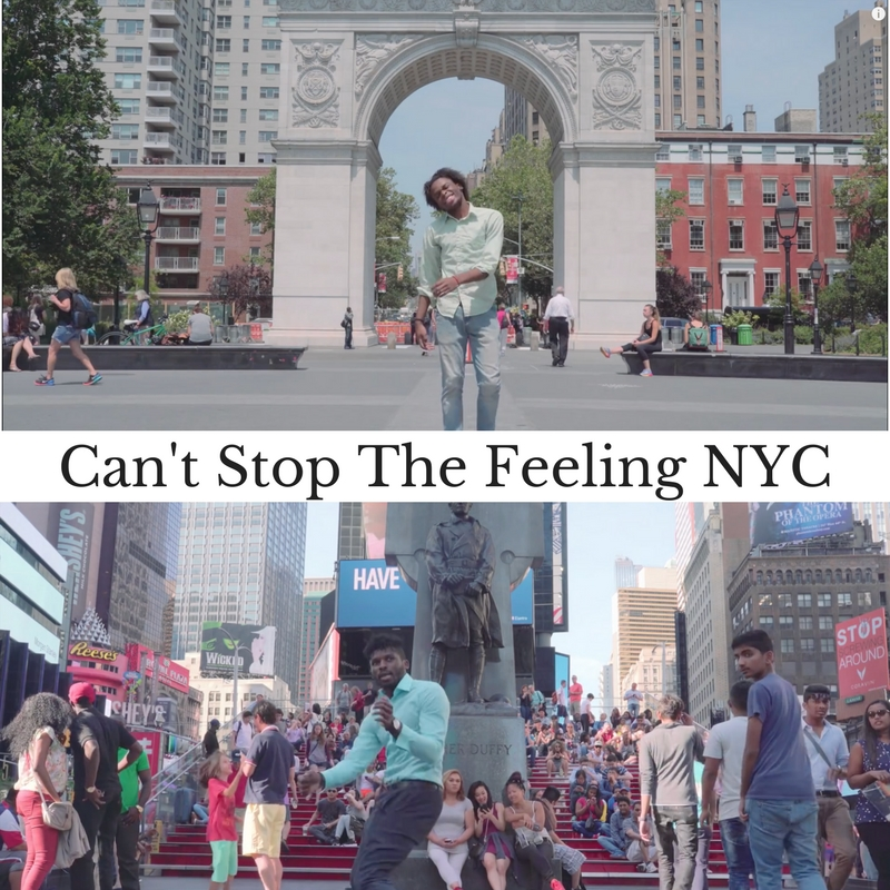 "Can't Stop the Feeling became the ""Happy for 2016"" We decided to bring some joy while we were in NYC! Big thanks for everyone that joined in on this project. Click here to see the video https://www.youtube.com/watch?v=Hzgc3wHVhoE"