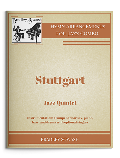 Jazz: Combo    Arrangements for trumpet, sax, piano, bass, and drums; some with optional parts for choir.