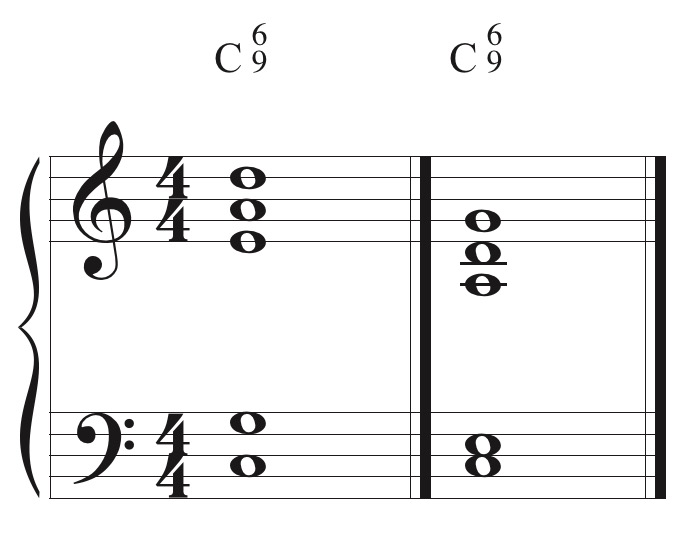 Common 6/9 voicings.