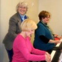 Deidre - piano teacher and student - and has never missed a course.
