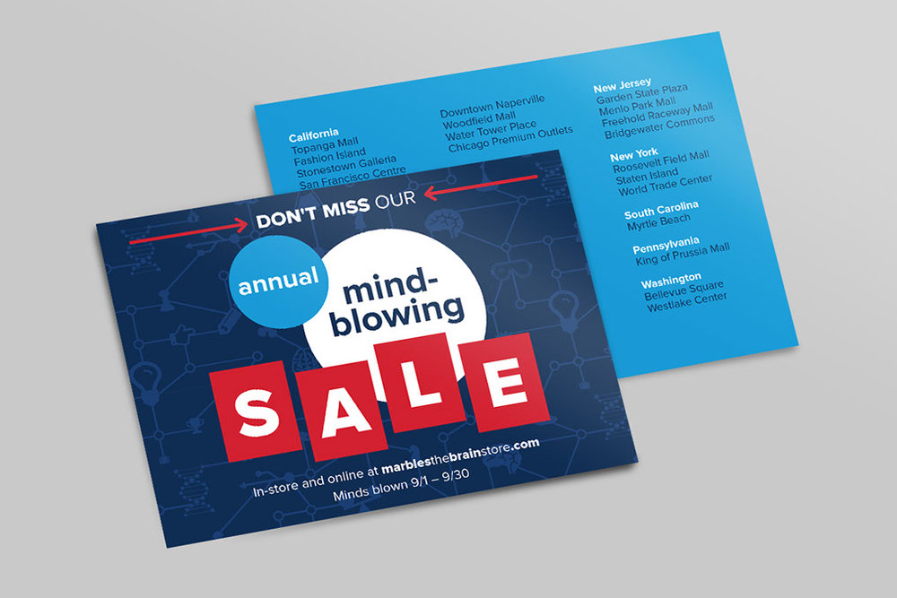 Mind-Blowing Sale Postcard
