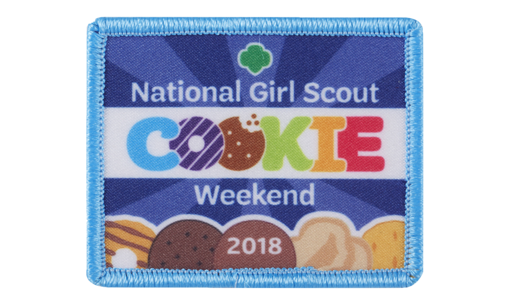National Girl Scout Cookie Weekend 2018 patch