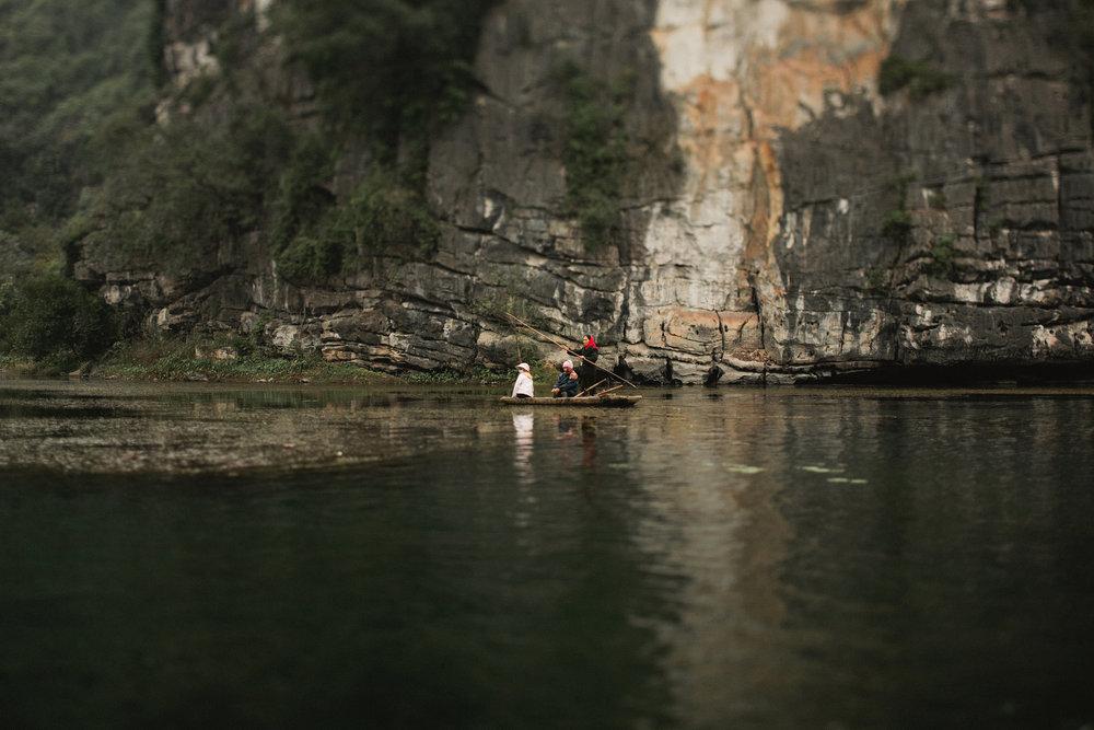 Rowboat in Ninh Binh, Vietnam