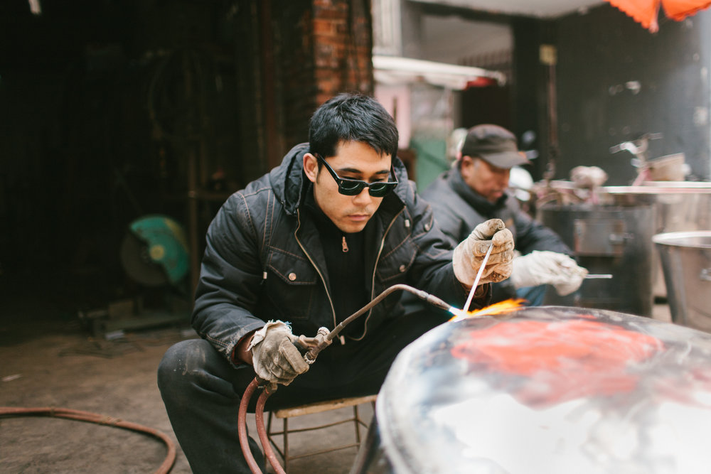Welder in Xi'an China