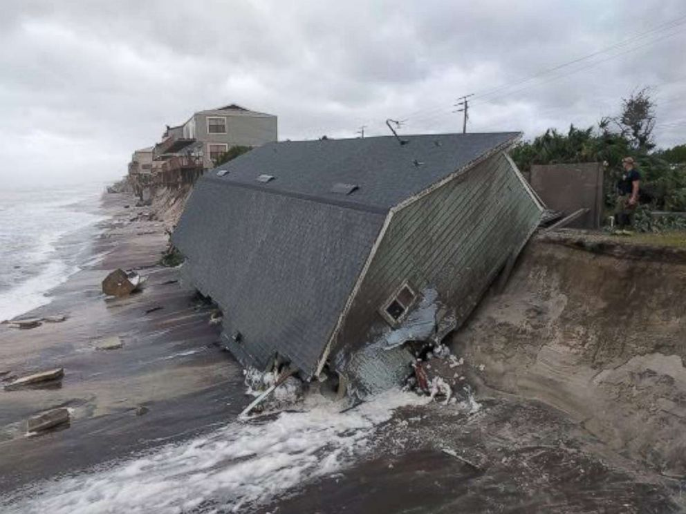 15 ft. storm surge damages all along the coastal regions