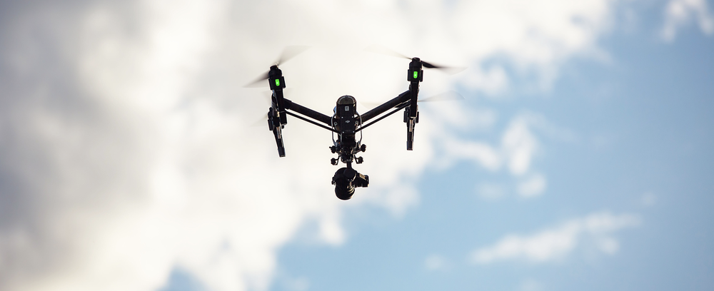 DJI Inspire 1 with High Definition (HD) Video Camera and remote controlled flight.