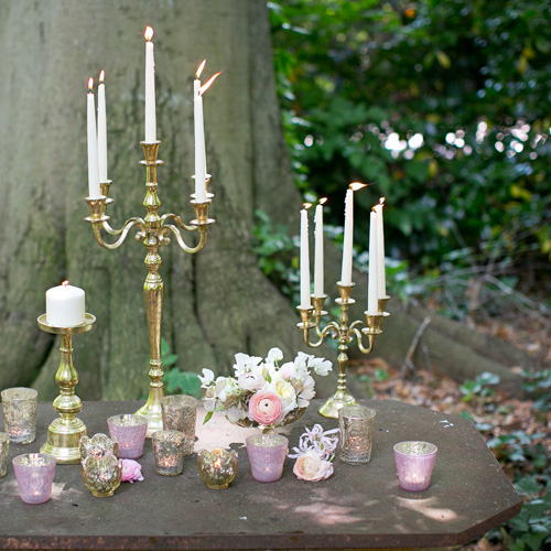 viewpointevents.com | Candelabras for rent in California | Vintage Chic Rentals for weddings | Large Gold Candelabras