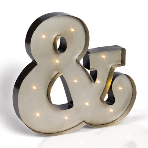 Ampersand Light Up Sign | View Point Events