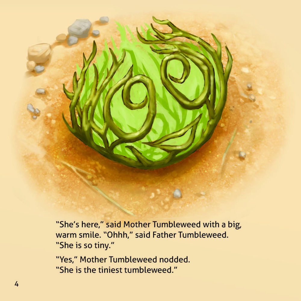 Sample page from The Tiniest Tumbleweed