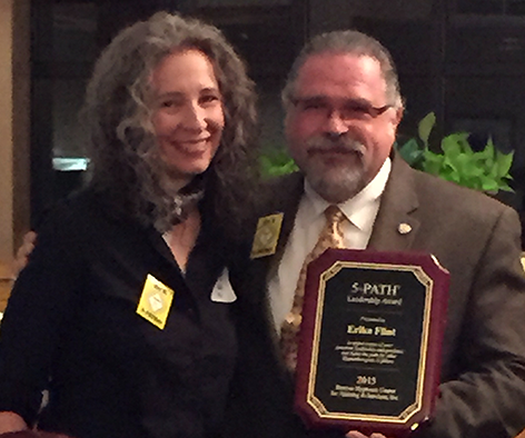 Local Hypnotist and Hypnotherapy Trainer Erika Flint Awarded Hypnosis Leadership Award for 2015