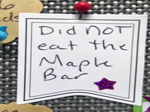 Did not eat the maple bar