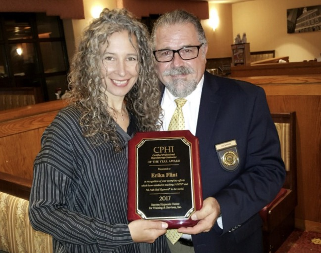 Erika Flint is Awarded the Certified Professional Hypnotherapy Instructor of the Year Award for 2017