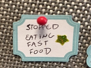 Stopped eating fast food