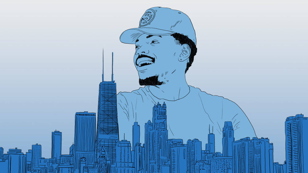 Chance the Rapper over Chicago | Image by Ben Blanchard