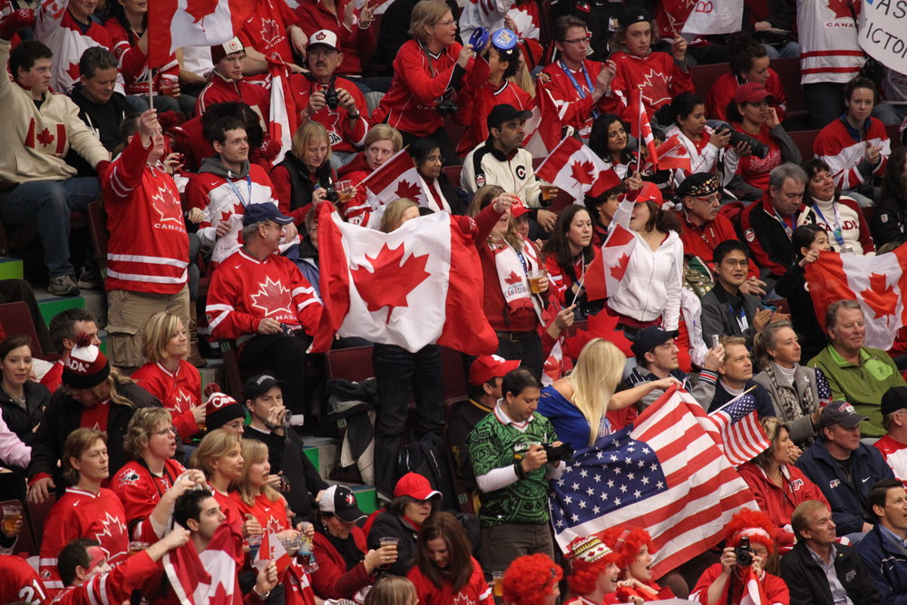 Canadian hockey fans | Photo by Robert Scoble (Wikimedia Commons)