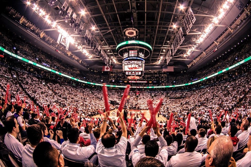 Canadian basketball fans | Photo by Shaheen Karolia
