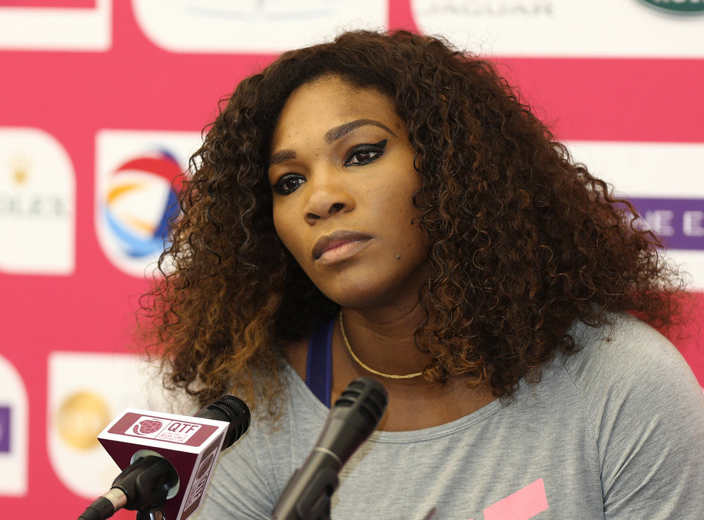 Serena Williams at Presser in Qutar | Photo by Vinod Divakaran (http://bit.ly/2jAWblM)