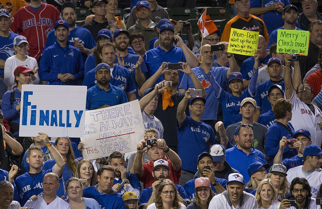 Blue Jays Fans | Photo by Keith Allison