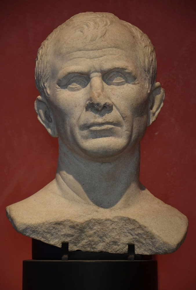 Not a face you want to say no to! One of two busts of Julius Caesar carved in his lifetime | Photo by Carole Raddato