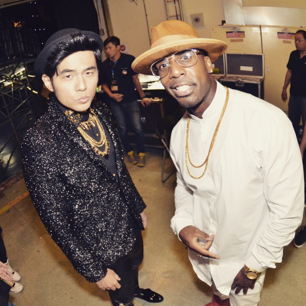 Famous and Jay Chou backstage at the GMA | Provided by Ashton Bishop