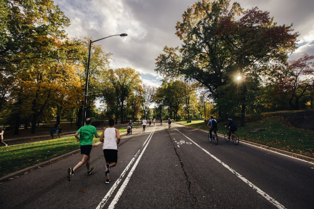 Runners in Central Park | Photo by  Chanan Greenblatt