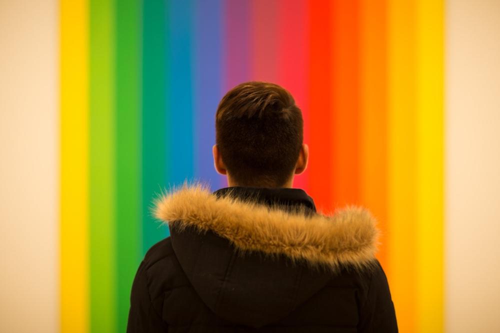 man colour wall