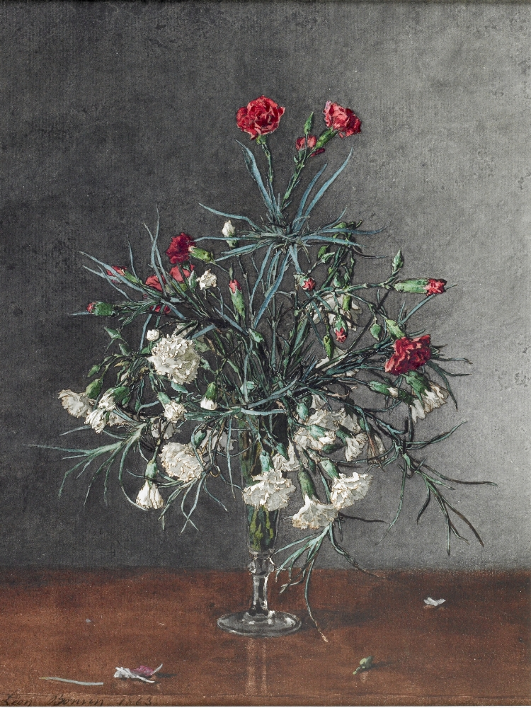 Léon Bonvin - Vase of Red and White Carnations | Photo by Ryan Kaldari