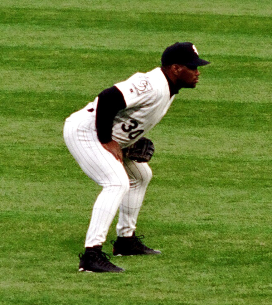 Chicago White Sox outfielder Tim Raines | Photo by  Clare and Ben