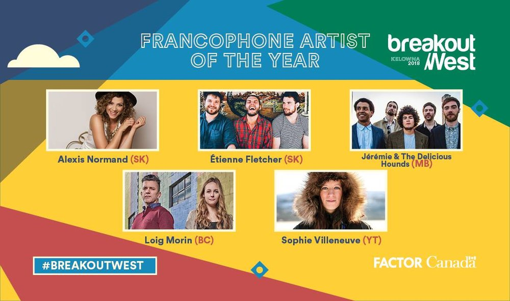 Official press release: https://breakoutwest.ca/awards/music-awards