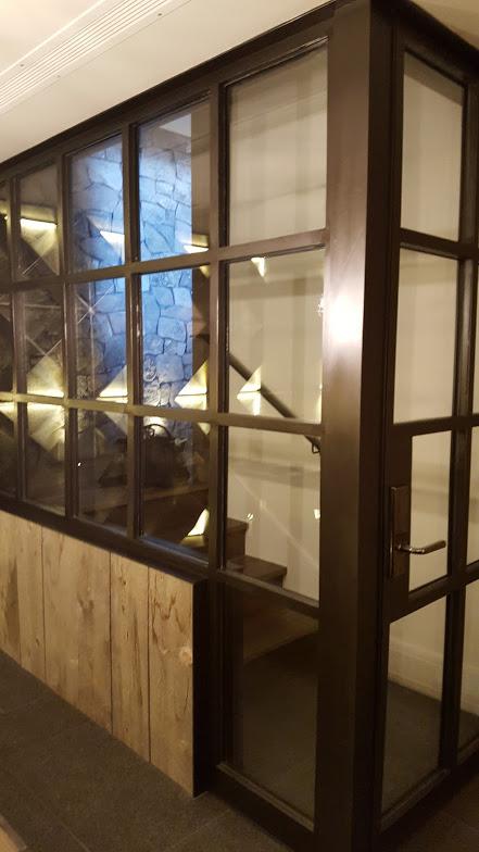 Steel Wine Room Door & Window