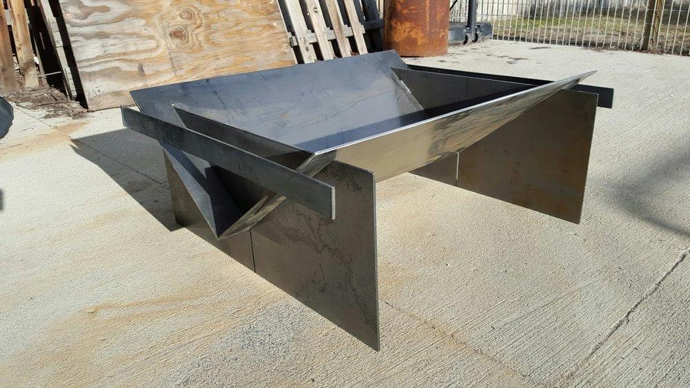 Custom Fire Pit 1 - Silvercreek Metal & Glass