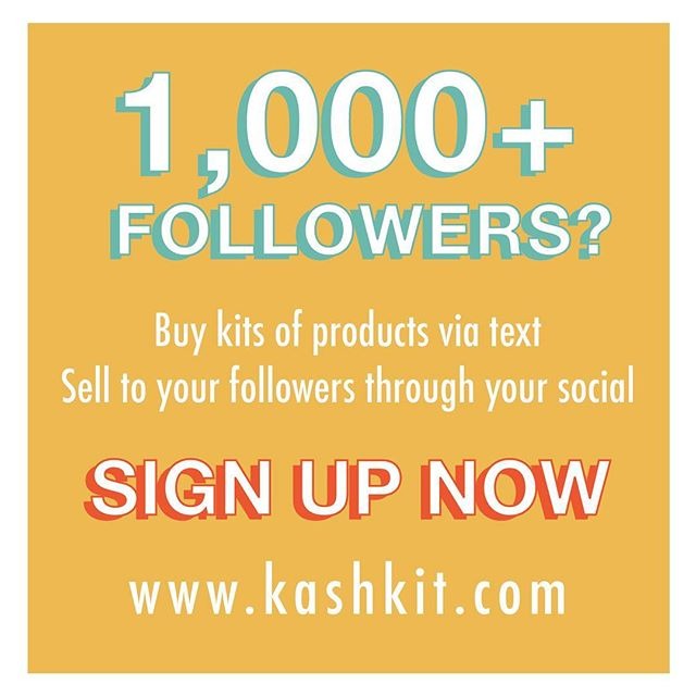 Turn your social following into a business!  Buy kits of products wholesale from us via text & resell to your friends using your social! Follow @kashkit to browse our products!