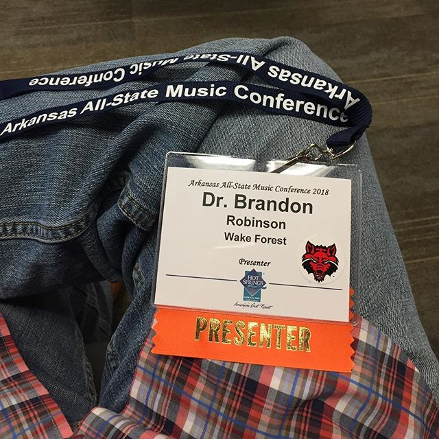 I had a terrific weekend at the Arkansas All-State Music Conference. Great to catch up with colleagues, friends, and family.