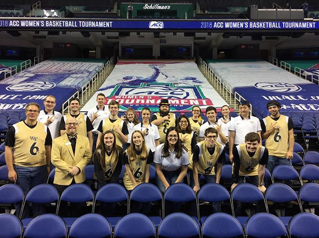 WFU and Pitt KKPsi chapters at the ACC Women's Tournament.