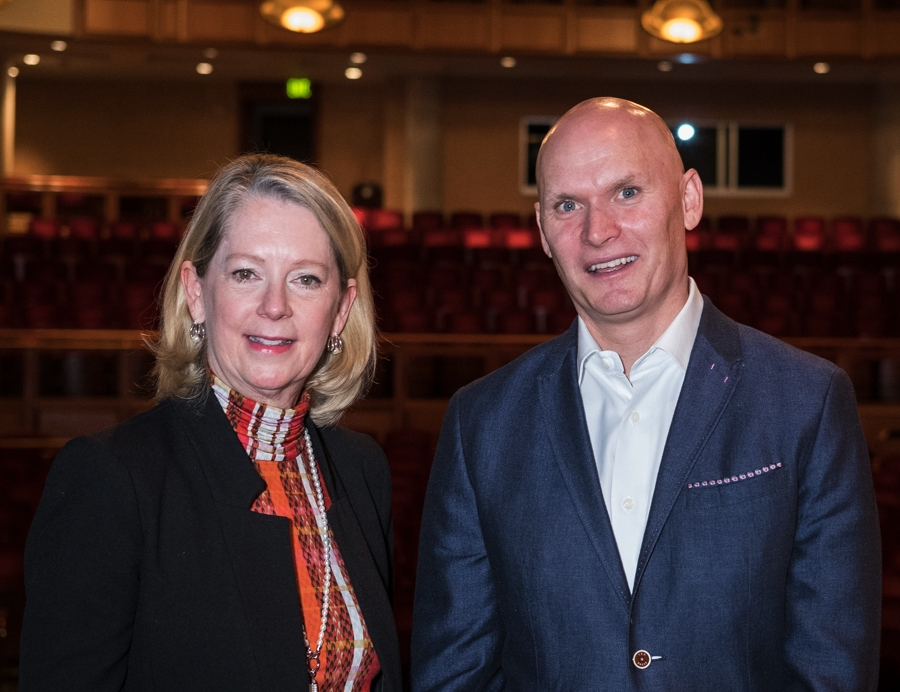 With Anthony Doerr, who I introduced and did a Q&A with at  Pen & Podium ,  the Denver Post Community Foundation series. (Photo by Kent Meireis)