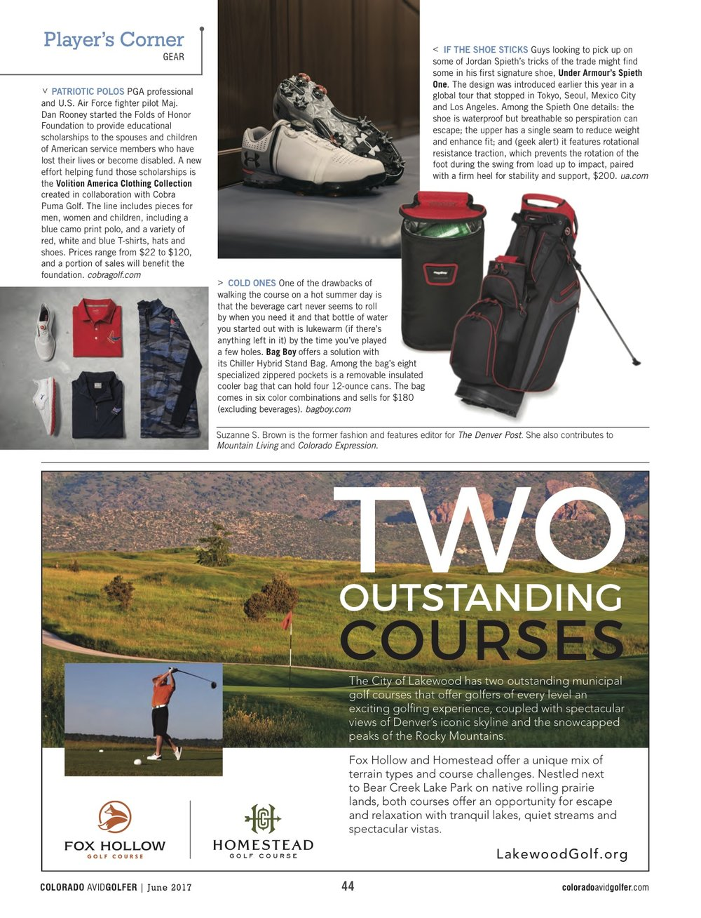 Gift ideas for Father's Day in Colorado Avid Golfer magazine June 2017.