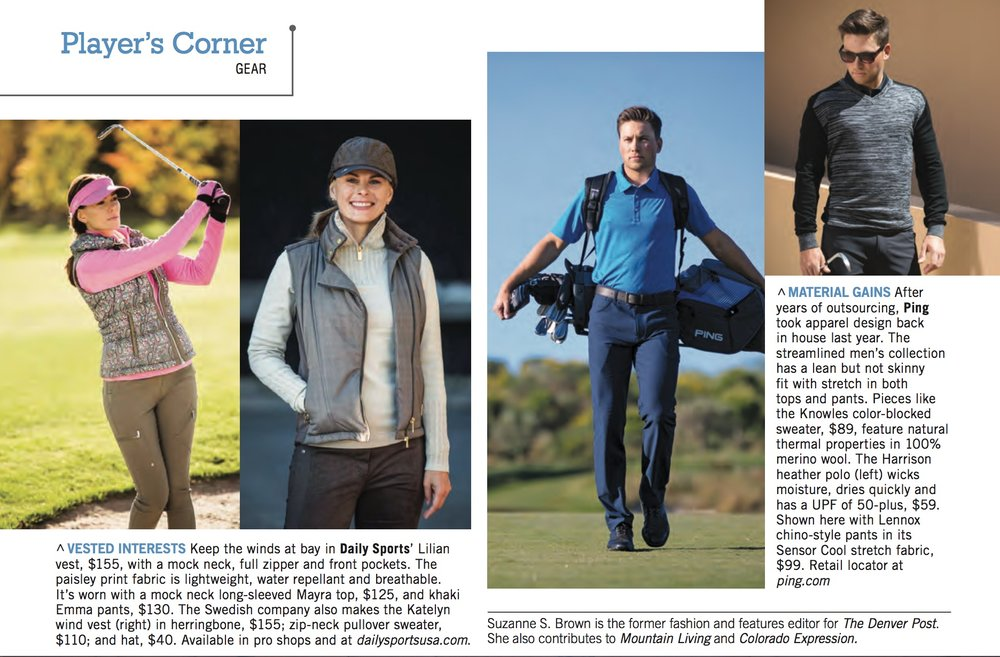 Second page of Colorado Avid Golfer editorial