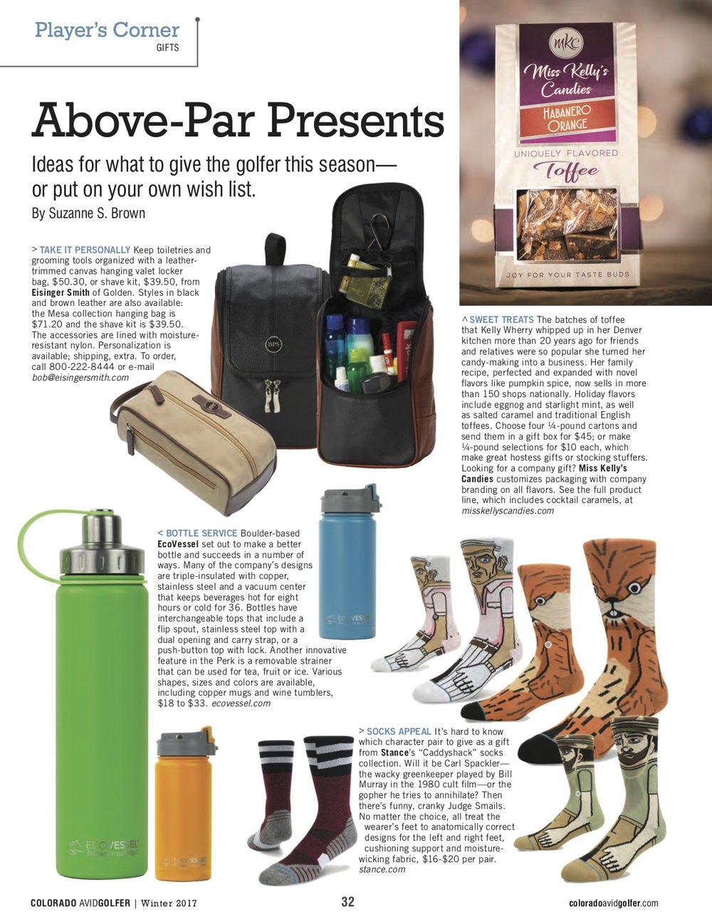 Gifts for all kinds of golfers, in Colorado Avid Golfer Magazine