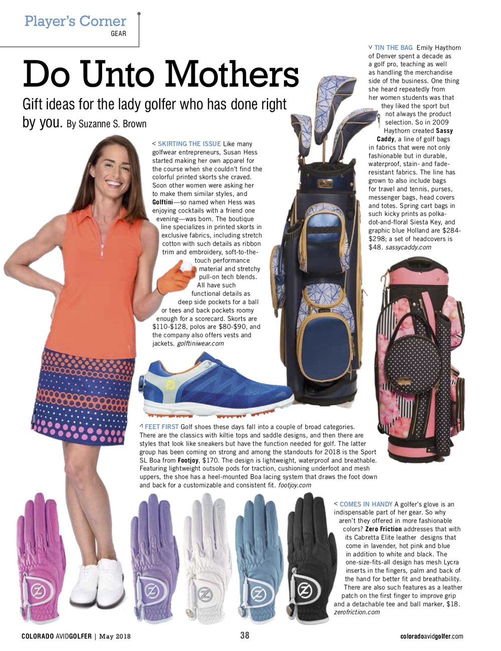 Women's fashion trends for spring 18, for Colorado Avid Golfer Magazine