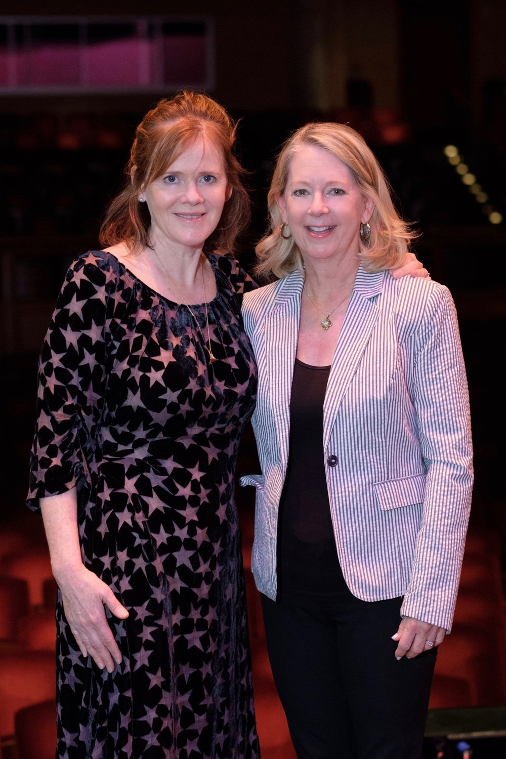 "Great to introduce author Maria Semple and do a Q&A onstage for Denver Post's Community Foundation's Pen & Podium series. Love her book, ""Where'd You Go Bernadette?"" (Kent Meireis photo)"