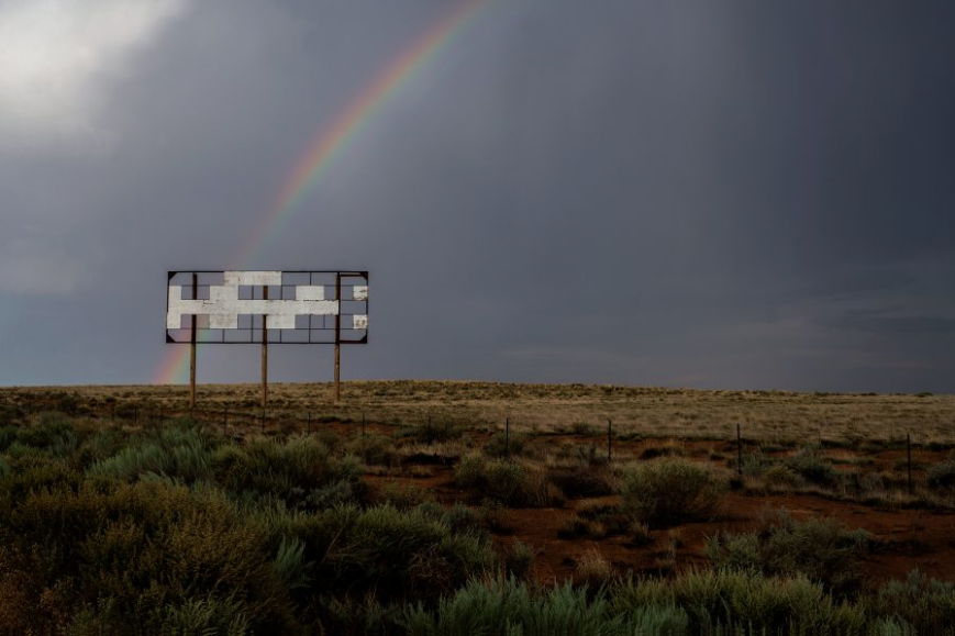 """Parker Reinecker (MFA photography 2019). """"I-40, Gallup, New Mexico,"""" 2016; archival pigment print, 23 x 34 inches, edition of 10."""