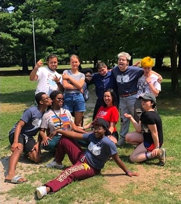 The Illinois Safe Schools Alliance Youth Committee at Action Camp 2018! -