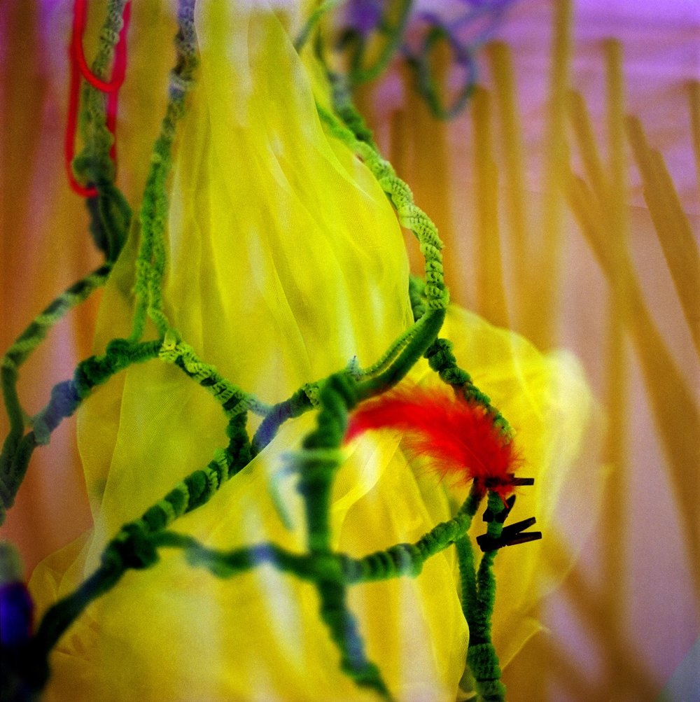 BERGDORF WINDOW SERIES  , 2012   Yellow Puff  22 x 22 inches Giclee Print