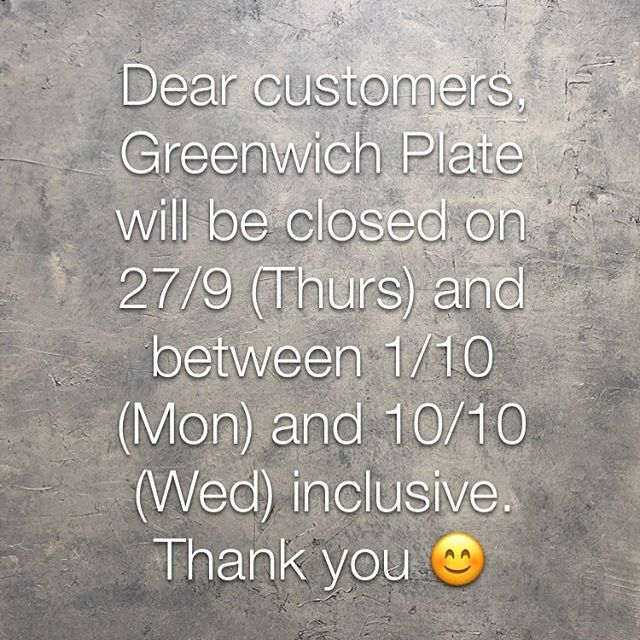 Dear customers, please note for next week and the next little while! 😊
