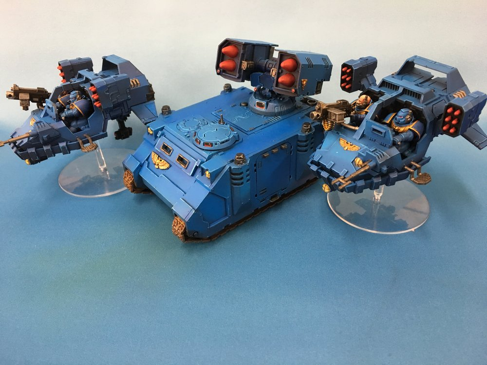 Table Top Ultramarine vehicles.