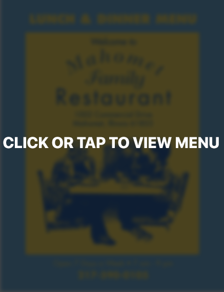 Click or tap to view our menu